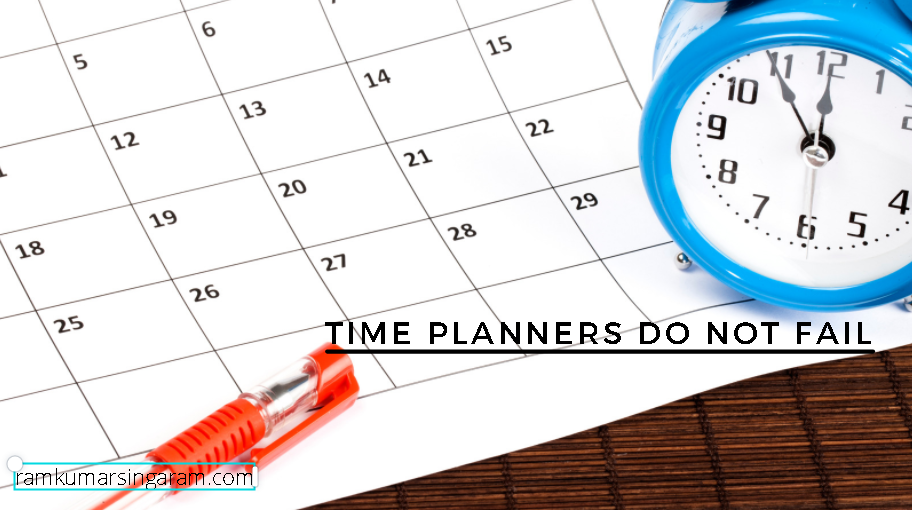 time planners do not fail