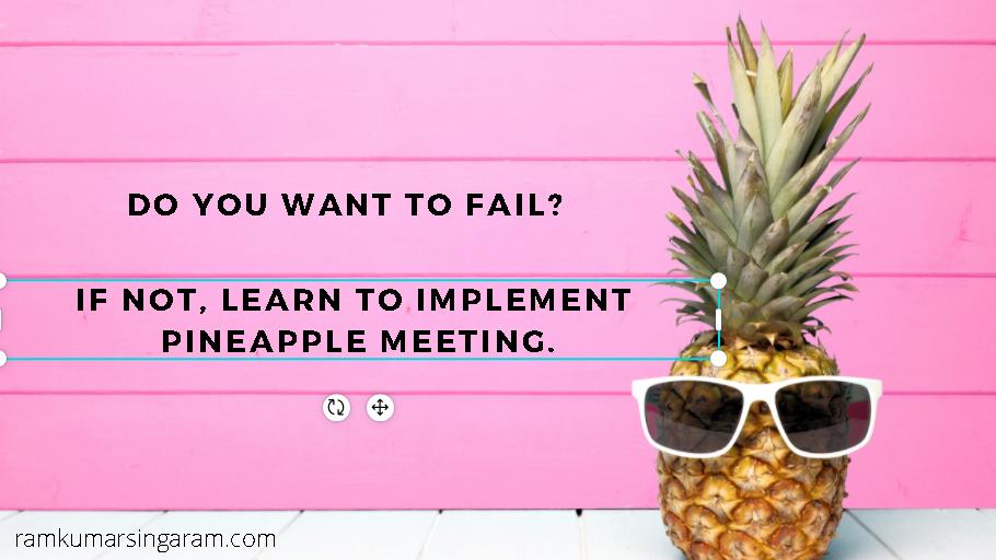 pineapple meeting - motivational speaker in tamil